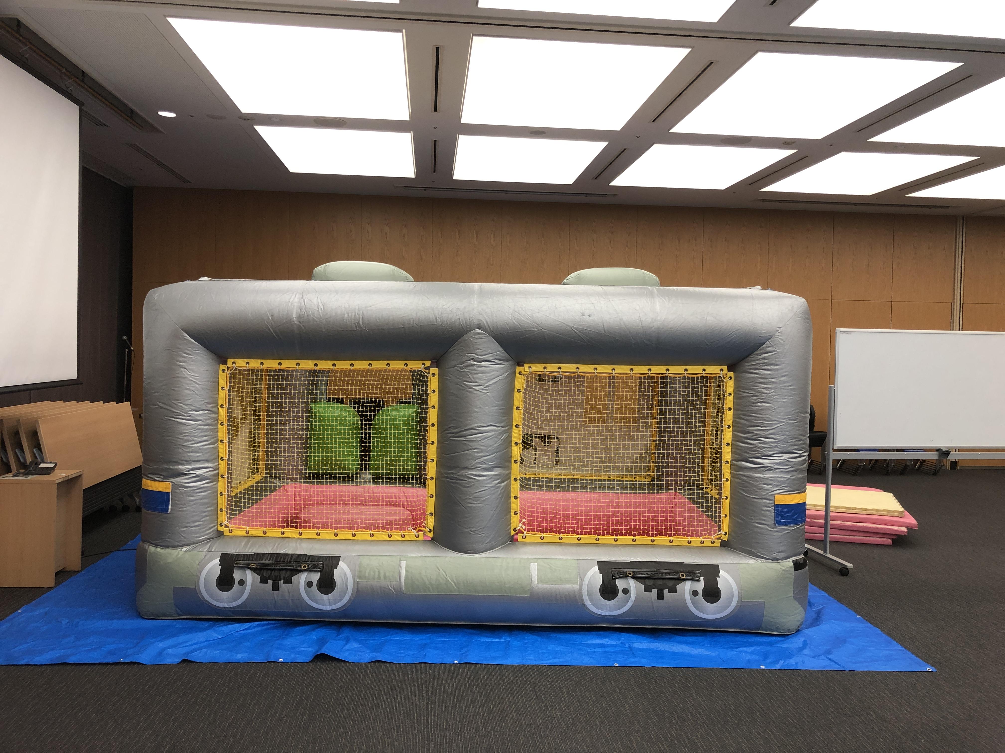 列車カラーボールハウスの設営なら神奈川イベント会社へ!