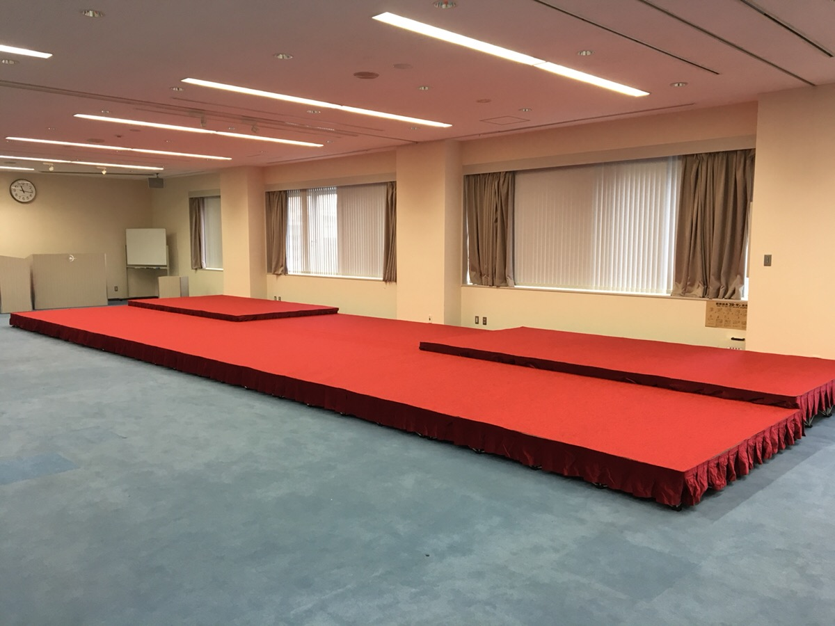 株主総会ステージ施工ならイベント21神奈川支店!