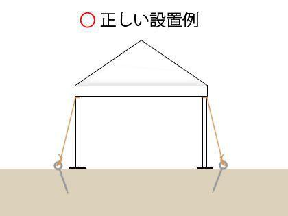 テントの強風対策を考えましょう!